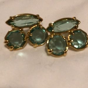 New Kate Spade GP and Turquoise Large Earrings